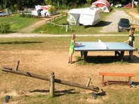 Camping Fougeraie (Nièvre,Morvan) : Table tennis